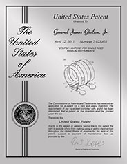 "Patent Plaques Custom Wall Hanging Contemporary Metal Patent Presentation Plate - 8.5"" x 11"" Silver."