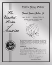 "Patent Plaques Custom Wall Hanging Contemporary Metal Patent Presentation Plate - 8"" x 10"" Silver."